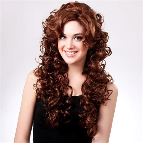 side curls hairstyles pinterest new sexy charm 27 55 quot women curly wavy hair wig long curly
