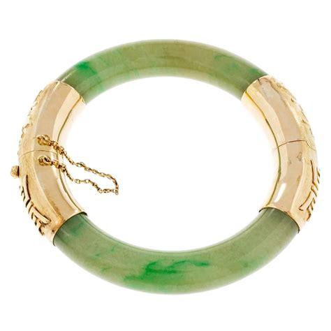 Jade Bangle green jadeite jade gold bangle bracelet for sale
