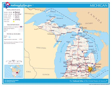 large map of michigan large detailed map of michigan state michigan state large