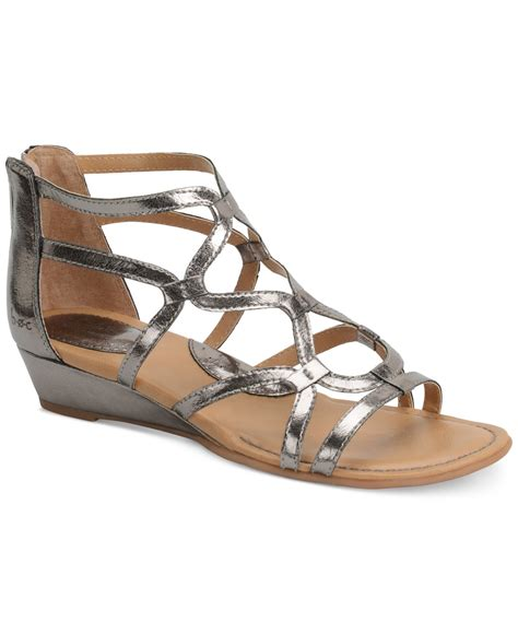 dress sandals b 248 c pawel dress sandals in metallic lyst