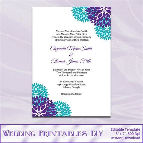 rack cards purple and turquoise template best 25 purple teal weddings ideas on blue