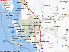 ft myers florida map map of fort myers florida my