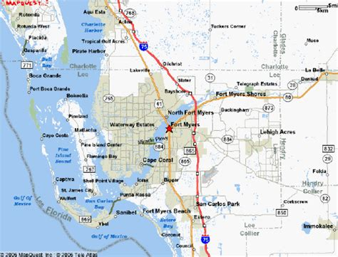 fort myers florida map map of fort myers florida my