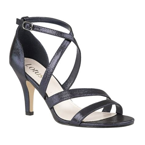navy strappy sandals navy gabby shimmer strappy sandals lotus shoes from