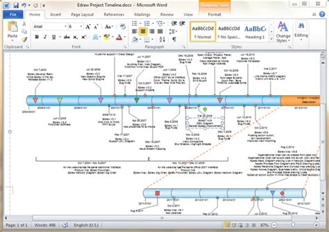 Timeline Templates For Word Microsoft Word Timeline Template