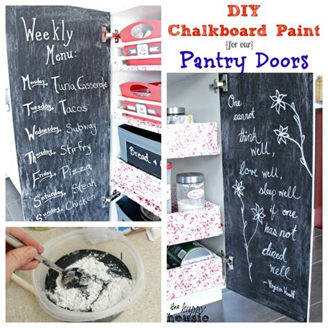 chalkboard paint diy diy chalkboard paint for our pantry doors the happy housie