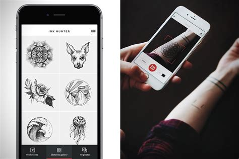 Tattoo Apps Free | ink hunter app lets you try on tattoos with augmented