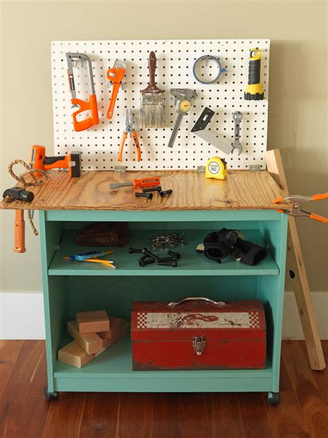 childrens work benches how to turn old furniture into a kids toy workbench how tos diy
