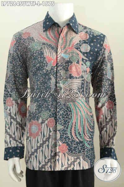 Baju Hem Formal sedia hem batik formal bahan baju batik mewah model lengan panjang furing