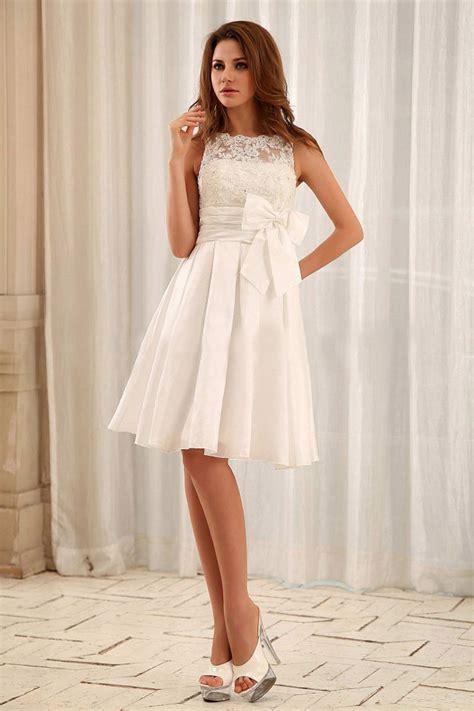 Robe Mariage Civile Simple - robe mariage civil pas cher col rond empire satin noeud