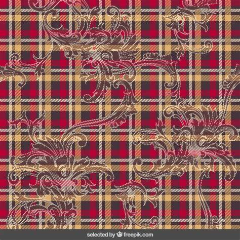 kilt pattern download tartan pattern with ornaments vector free download