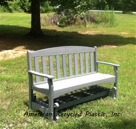 plastic glider bench plastic bench glider at american recycled plastic inc