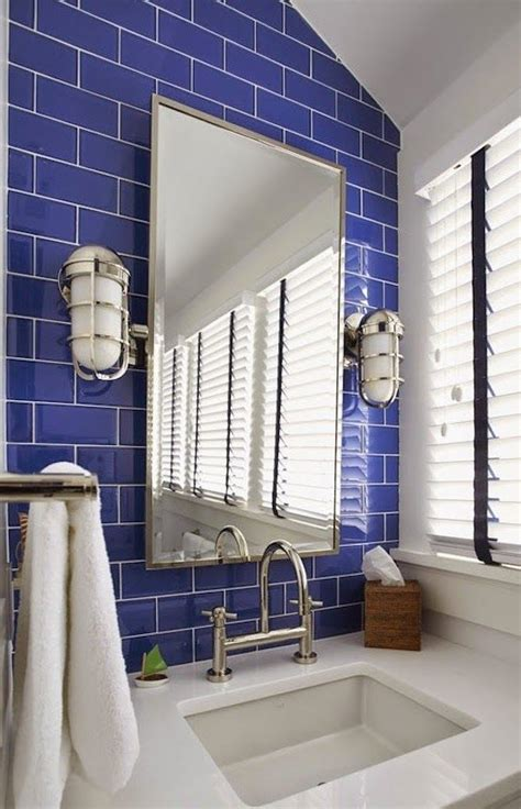 cobalt blue bathroom tile ideas  pictures