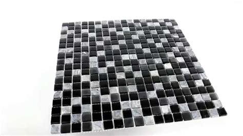 fliesen schwarz marmor glas mosaik fliesen schwarz grau 15x15x5mm