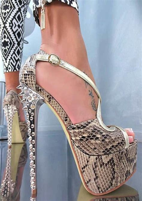 Snake Skin Pumps Heels Korean Shoes x3 neu 2013 fashion high heels plateau sandalette