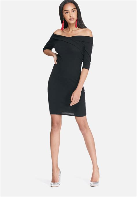 Manja Dress manja wrap shoulder dress black only occasion