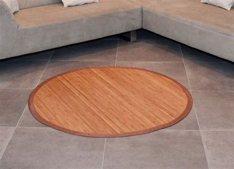 bambus teppiche bambusteppich rund runder bambus matte teppich vorleger