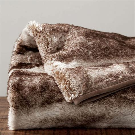 Best Faux Fur Blanket by Large Faux Fur Throws For Sofas Faux Fur Throw Pottery