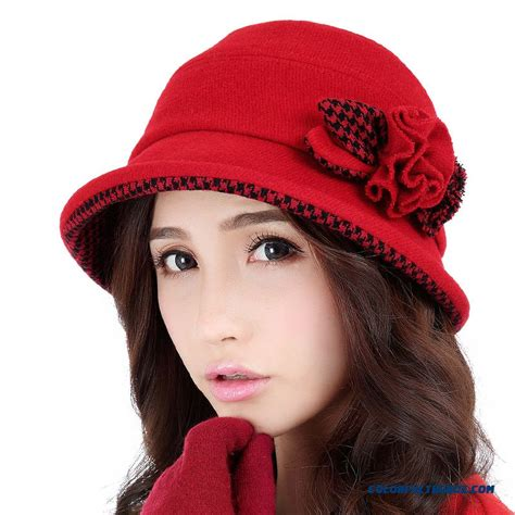 cheap special design in winter houndstooth curling hat