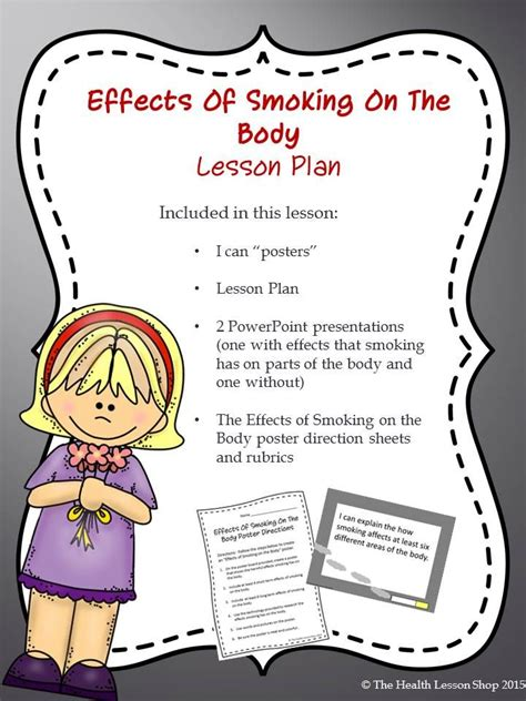 poster layout lesson plan 14 best images about tobacco lessons activities on