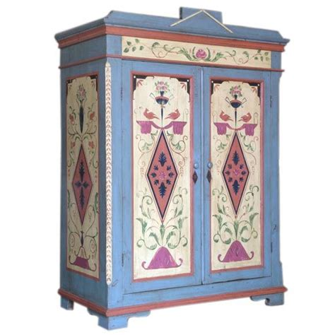 scandinavian swedish furniture antique painted armoire