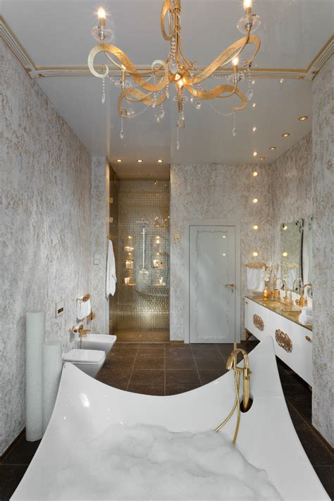 Gold White Bathroom Fixtures Interior Design Ideas White And Gold Bathroom Ideas
