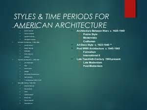 Architecture Styles American Architecture Styles