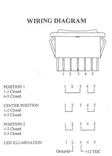 Power Window Rocker Switch 5 Wire Motor Reversing Control