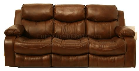 catnapper leather sofa catnapper tobacco top grain leather dallas motion sofa w