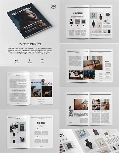 layout design magazine indesign pure magazine indesign template graphics pinterest