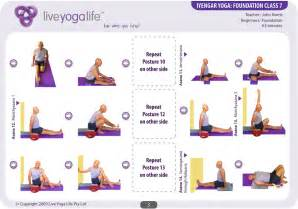 Printable Chair Yoga Routines Iyengar Yoga Foundation Complete Set Classes 1 To 7