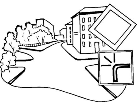 winding road coloring page coloring pages