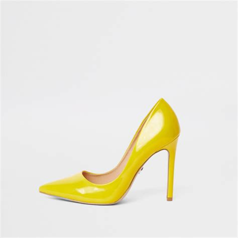 River Islands Patent Leather Cut Out Court by Yellow Patent Court Shoes Shoes Shoes Boots