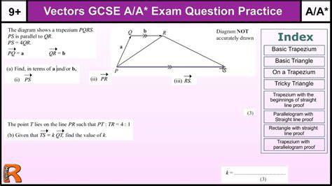 tutorial questions on indices how to do vectors a a gcse maths revision higher level