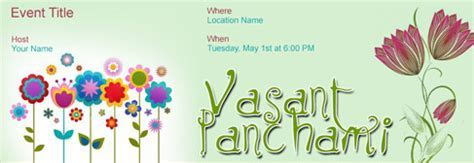 Free Vasant Panchami invitation with India?s #1 online tool