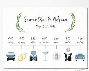 custom wedding timeline wedding itinerary timeline