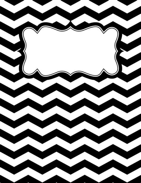 Black And White Binder Cover Templates by Free Printable Black And White Chevron Binder Cover