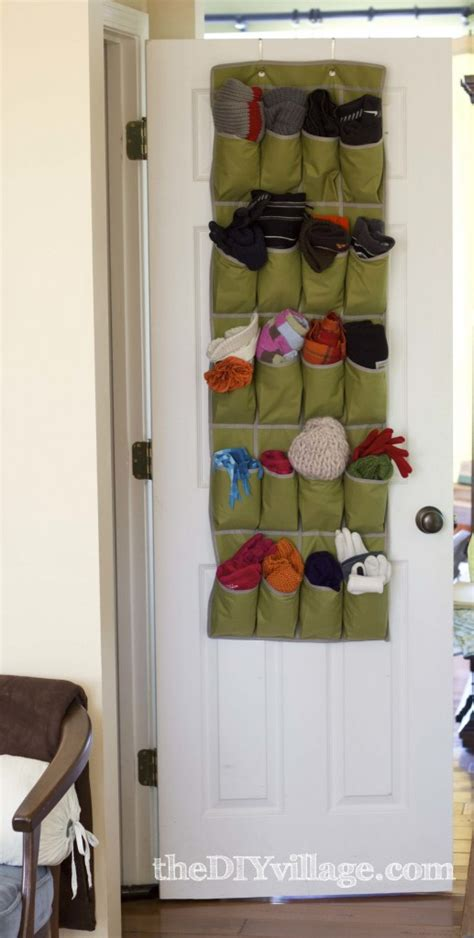 over the door organizer over the door organizer for winter storage the diy village