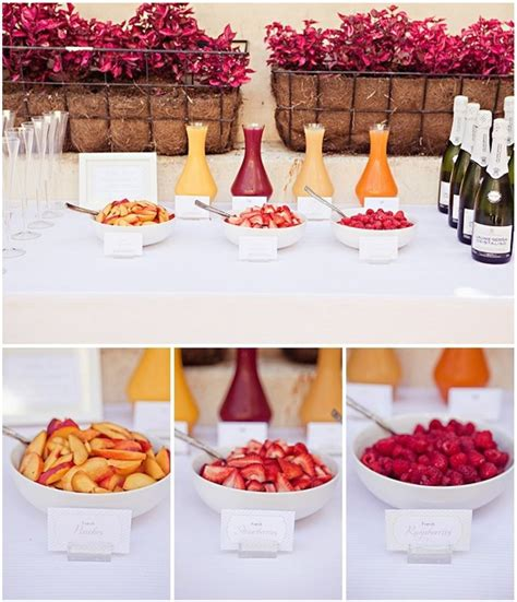 drinks mimosa bar for bridal shower the big day pinterest