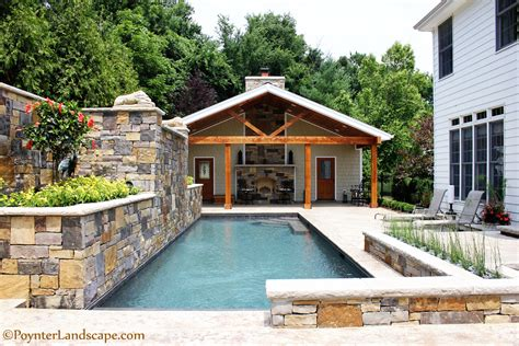 house plans with a pool st louis pool house design poynter landscape