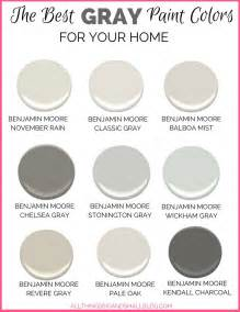 best colors for gray paint colors for your home best benjamin