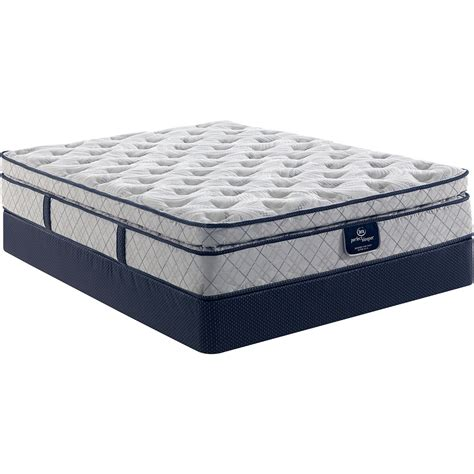 pillow top queen bed serta perfect sleeper hanslow super pillow top mattress