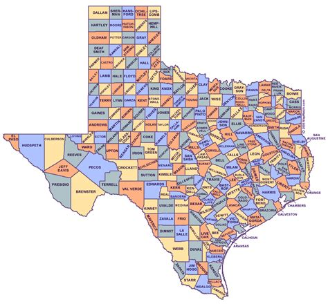 texas map and cities texas map with counties and cities map of usa states