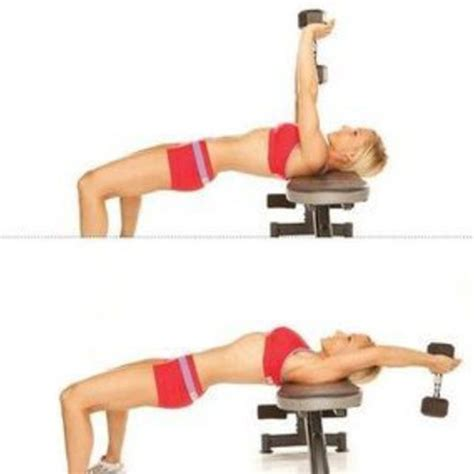 how to bench with dumbbells bench dumbbell pullover exercise how to workout