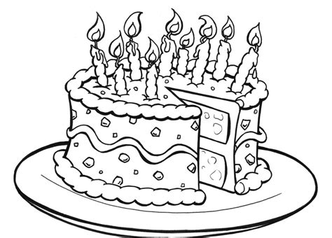 Coloring Pages Cakes free printable birthday cake coloring pages for