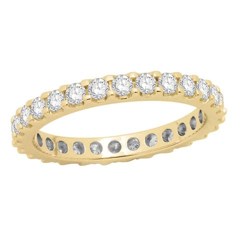 18ct yellow gold one carat eternity ring