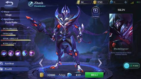 apa itu mobile legend mengenal zhask baru mobile legends dengan 4 skill