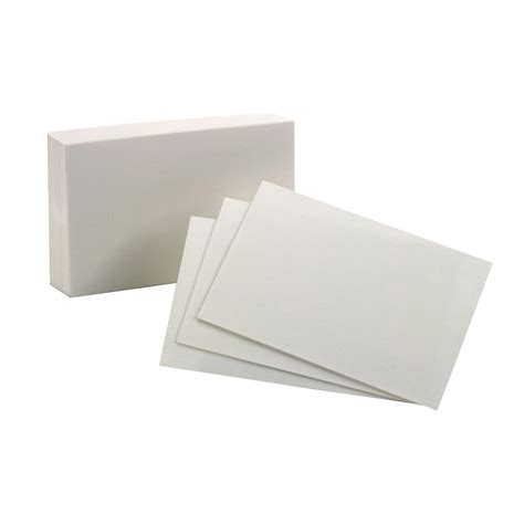 Oxford Index Card Tab Template 1 5 100 by Oxford Index Cards 4x6 Plain White 100 Per Pack Ebay