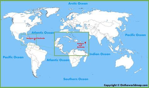 antigua and barbuda map antigua and barbuda location on the world map
