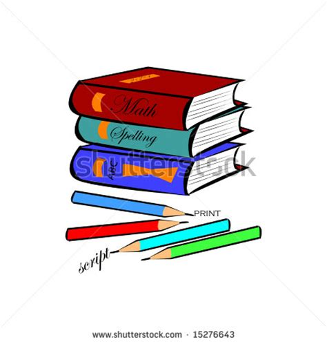 pictures of books and pencils illustration of school books clipart panda free